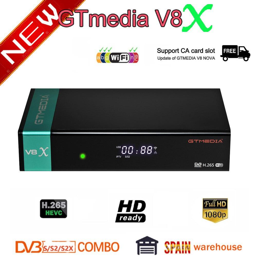 Neueste GTmedia V8X Satellite Empfänger Aktualisiert GTmedia V8 Nova Gebaut in Wifi Volle HD 1080P GTmedia V8 Ehre freesat v9 super