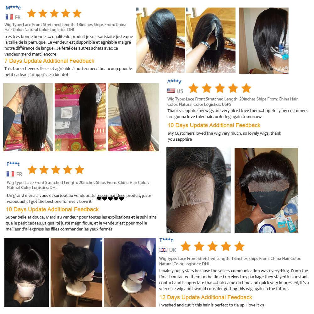MQYQ 360 koronkowa peruka na przód peruka z prostymi włosami peruki z ludzkich włosów malezja koronkowa peruka nie Remy włosy dla czarnych kobiet na oskubane