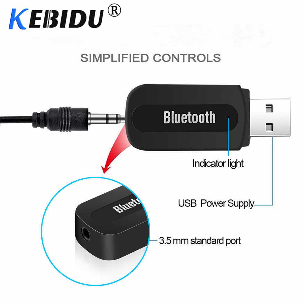 Kebidu Bluetooth Receiver AUX 3.5mm USB Wireless Adapter Dongle Audio Home Speaker Receptor Bluetooth Transmitter Connector