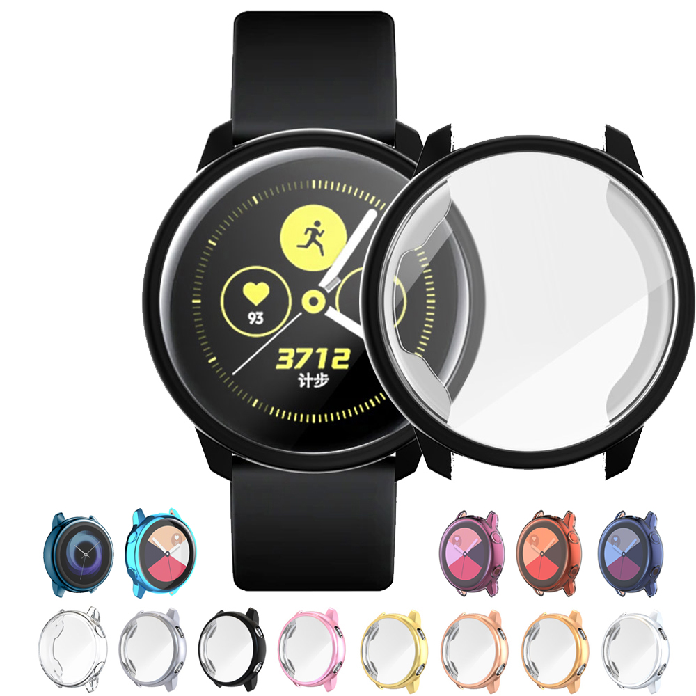 for Galaxy Watch active case Samsung galaxy watch active 2 44mm 40mm bumper Protector HD Full coverage Screen Protection case