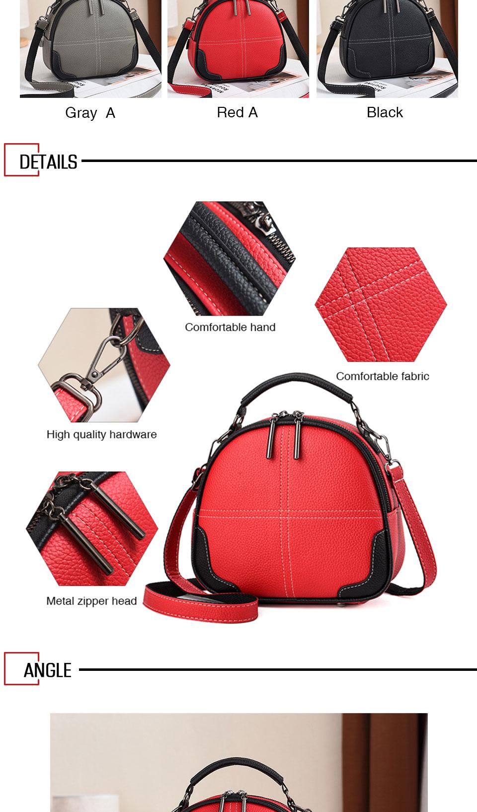 Hjphoebag moda de alta qualidade sólida couro