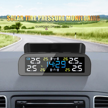 Auto Tire Pressure Monitoring System TPMS Solar Power Digital Uhr Display Reifendruck Sensoren Sparen Kraftstoff Monitor mit 4 Sensor