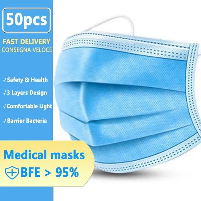 maschera per bocca monouso