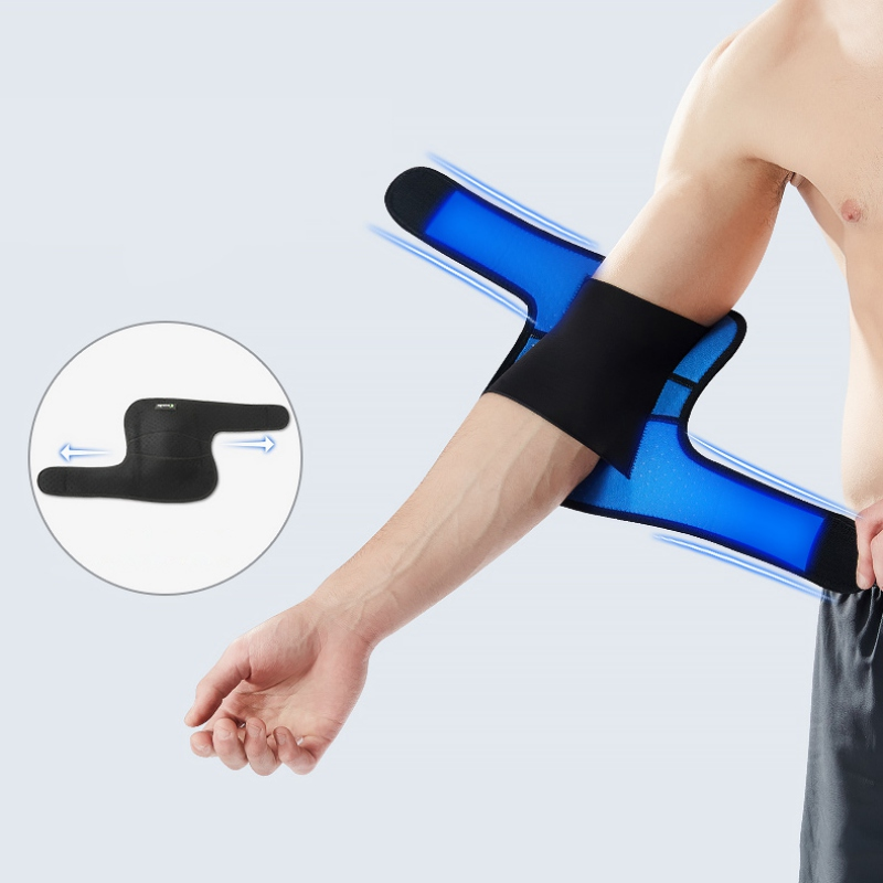 Outdoor <font><b>Sports</b></font> Elbow Support Brace Pad <font><b>Injury</b></font> Aid Strap Guard Wrap Band Elbow Support Elastic Gym <font><b>Sport</b></font> Elbow Protective Pad image