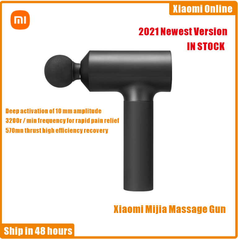 2021 Xiaomi Mijia Massage Gun Electric Neck Massager Smart Hit Fascia Gun For Body Massage Relaxation Fitness Muscle Pain Relief