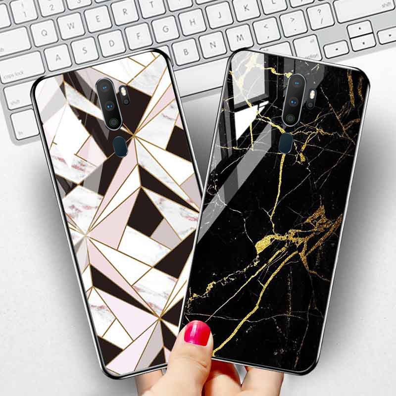 A9 2020 Tempered Glass Case For <font><b>OPPO</b></font> Find X A89 A79 A77 A7 A59 <font><b>A57</b></font> Case Silicone Phone Case For <font><b>OPPO</b></font> A1k A33 A37 A11X <font><b>Back</b></font> <font><b>Cover</b></font> image