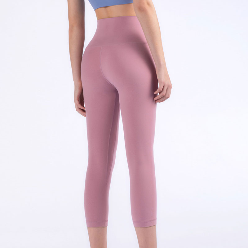 Slim Capris Workout Yogaing Pant Seamless Set Gyms Leggings Skinny Stretch Pants Women Leggings Women Sweaty Sexy Casual High