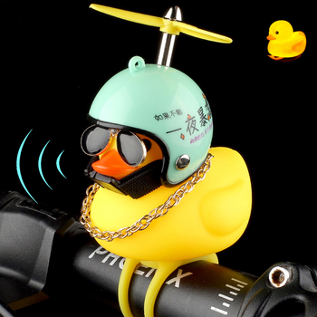 TANDT Bicycle Light Bike Horn Bell Cycling Lamp Duck Front AlarmTail Handlebar Head  Flash Kids Child Cycling Rubber Warning Led bicycle bike handlebar ball air horn trumpet ring bell loudspeaker noise maker free shipping
