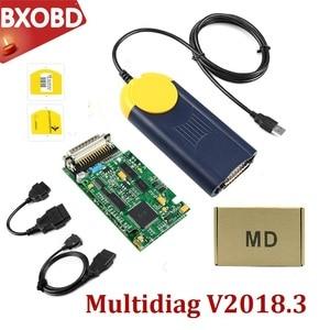 V2018.3 MultiDiag Actia Multi di@g OBD2 Scanner Multi diag J2534 Access Pass-Thru OBD2 Device Multi-Diag Auto Diagnostic Tool(China)