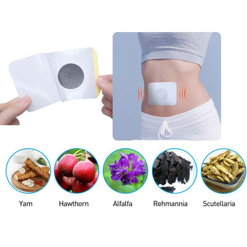 Stabilizes Natural 6pcs Plaster Blood-Sugar-Balance Content Herbs Abdomen-Patch Glucose