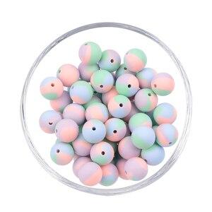 LOFCA 12 мм круглые силиконовые бусины для прорезывания зубов 20 шт./лот для самостоятельного изготовления ожерелья для кормления жевательные б...