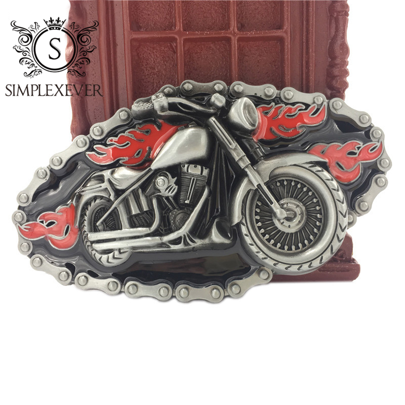 Motor Head Belt Buckle With Sliver Finish Suitable For 4cm Width Belt Men's Belt Buckle Drop Shipping