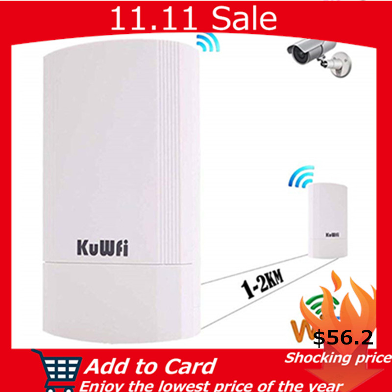 KuWFi Wireless CPE Router 5G 450M Wireless Wifi Bridge Indoor&Outdoor Point To Point 1-3KM Wireless Repeater Not Setting 24V POE