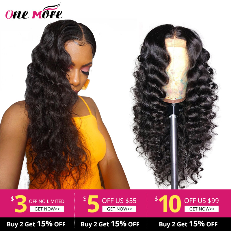One More Loose Deep Wave Wig With Baby Hair Clueless Lace Front Human Hair Wigs Pre Plucked Malaysian Remy Wigs For Black Women