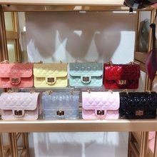 Sac à main pour filles pour femmes, Mini sac à gelée, sacs à bandoulière transparents en PVC, petite pochette pour pièces de monnaie, sac Transparent, 2021
