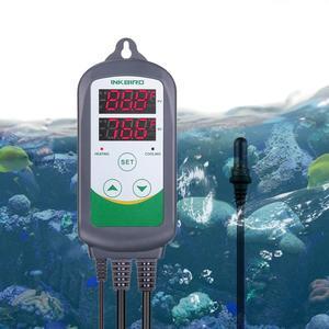 Inkbird Heating & Cooling Temperature Controller ITC-308S EU Plug with Aquarium Probe Pre-wired Digital Thermostat for Aquarium
