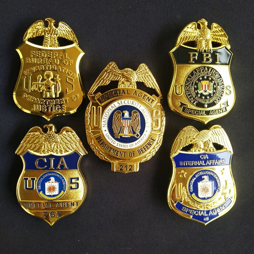 FBI Metal Badge United States Bald Eagle SWAT Special Force Agent Cosplay Accessories Halloween Detective Pin Insignia