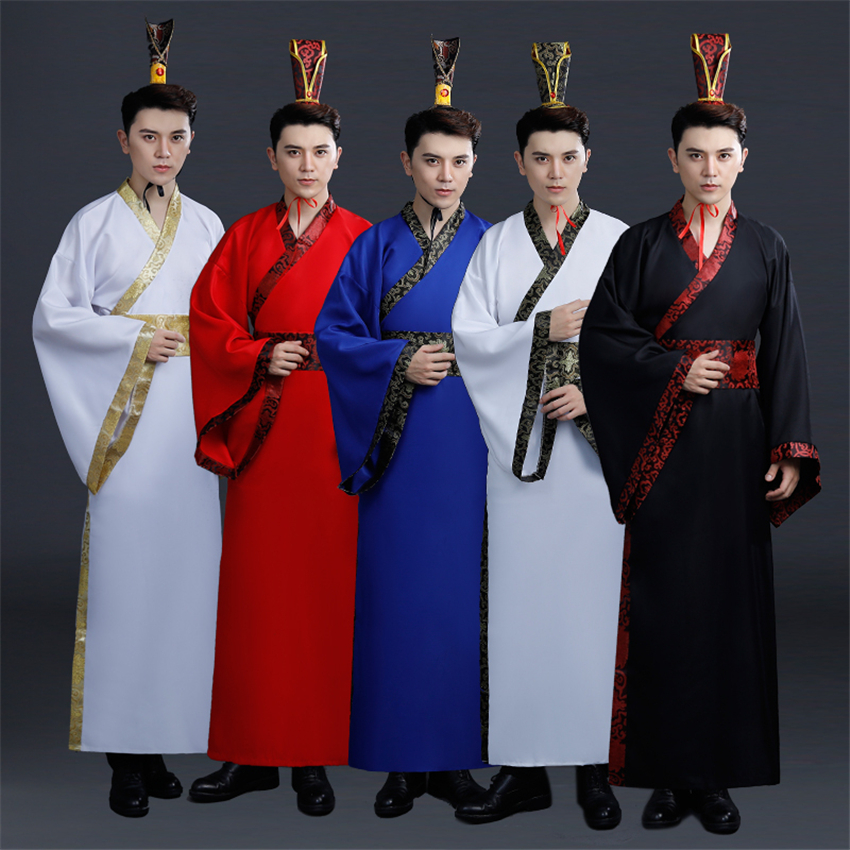 Chinese Traditional New Year Male Hanfu Performance Dance Clothing Man Print Hanfu 13colors Gown Stage Tang Suit For Man