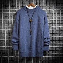 Half Turtleneck Men Sweater Winter Warm Pullover O