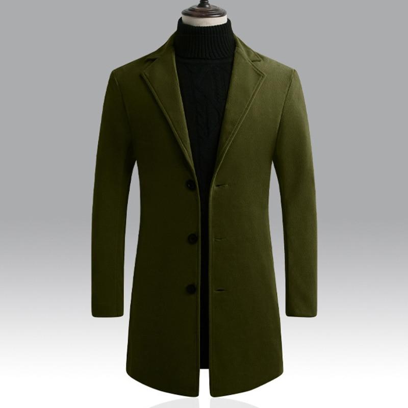 2019 Mens Single-breasted Blazers Oversized For Autumn Winter Lapel Jacket Long Sleeve Men Long Coat