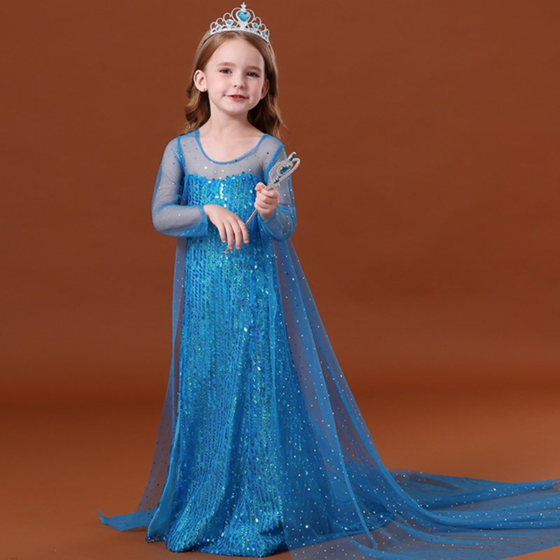 Fancy Girl Dress Cosplay Costume For Kids Dresses Princess Carnival Birthday Party Wear Baby Clothes Teens Chidren Clothing 4