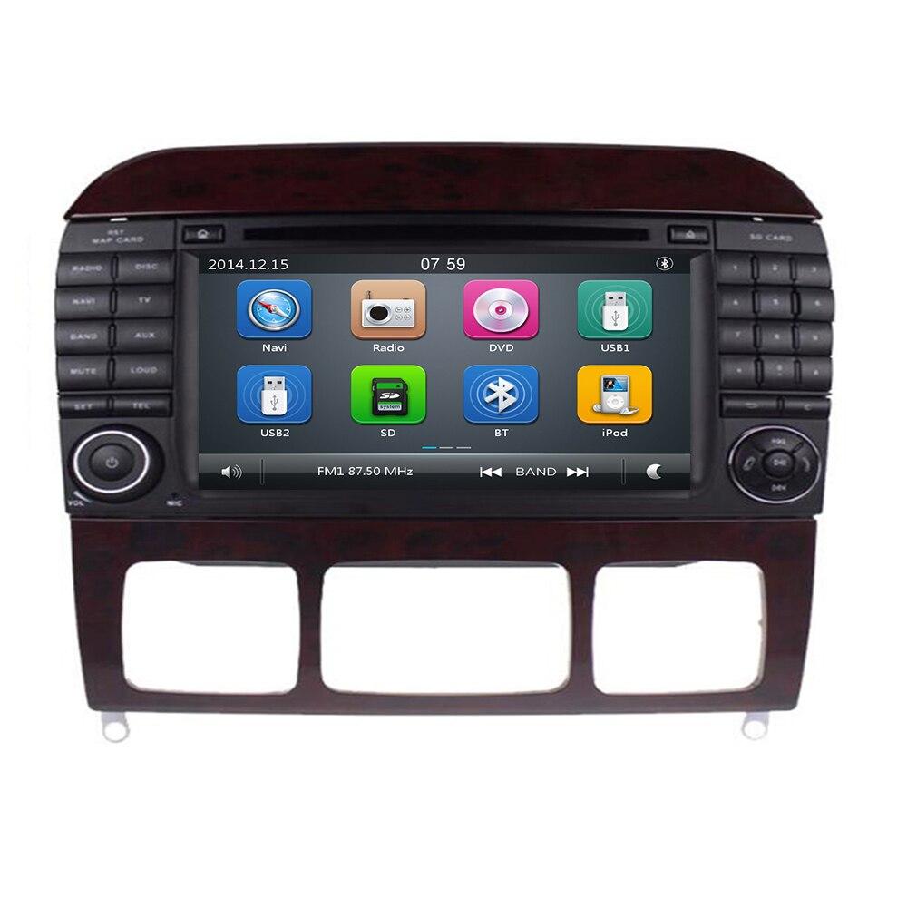 Livraison gratuite 2DIN nouvelle voiture lecteur dvd radio pour Mercedes Benz classe S W220 W215 S280 S320 S350 S400 GPS Navi RDS BT WIFI