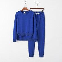 Solid Irregular 2020 New Design Fashion Hot Sale Suit Set Women Tracksuit Two-piece Style Outfit Sweatshirt Sport Wear