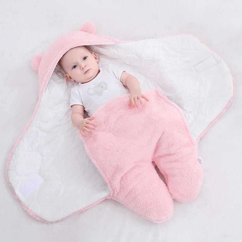 Baju tidur bayi bulu lembut berbulu lembut yang baru lahir menerima - Peralatan tempat tidur - Foto 6