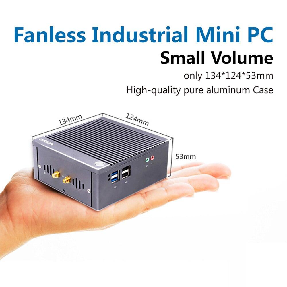 Image 4 - K6 3C fanless n2940 quad core industrial iot computador 1 * gpio 3 * rs232 com 2 * rj45 lan 2 * hdmi 6 * usb wifi 4 k mini pc windows linuxMini-PC   -