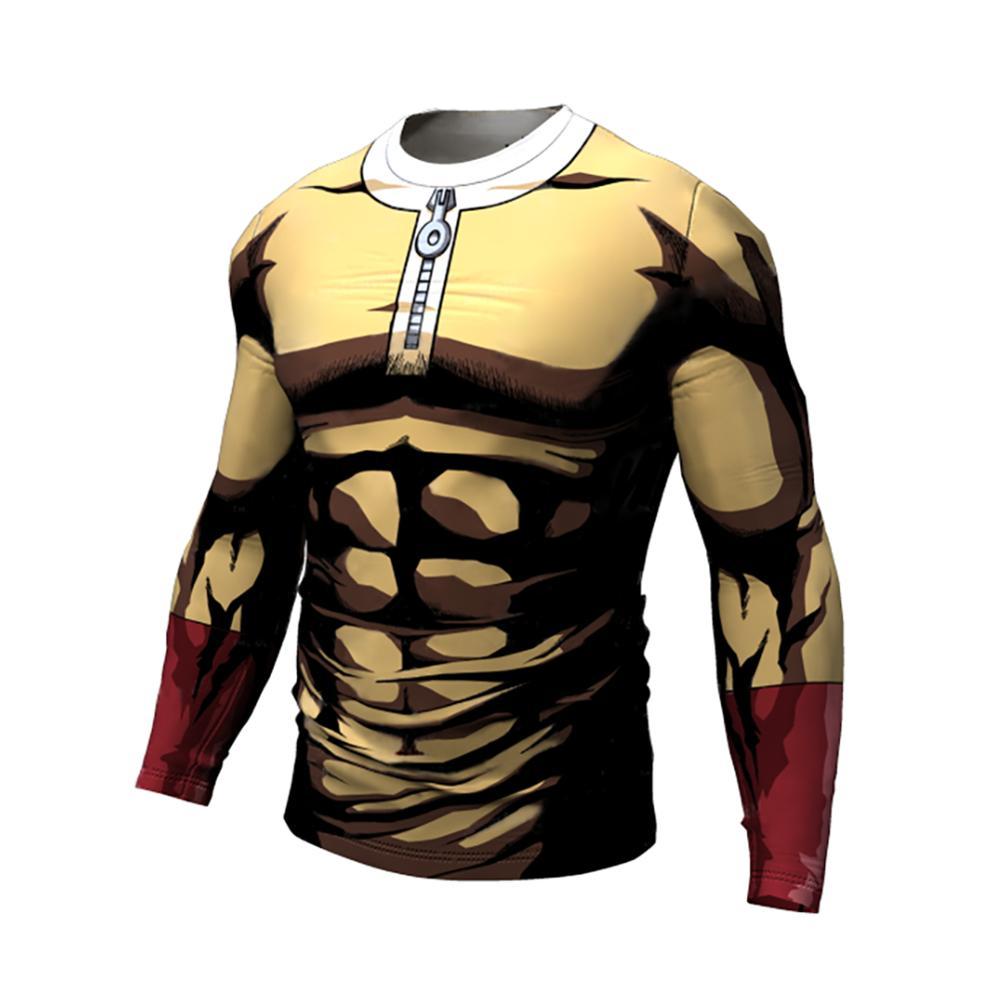 One Punch Man спортивные мужской спортивной компрессионной одежды плотные рубашки для мальчиков тренажерный зал спортивной подготовки рубашки бодибилдинг с длинными рукавами одежда для мальчиков|Футболки| | АлиЭкспресс