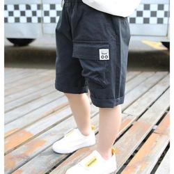 2021 Summer Shorts Children's Wear Shorts Boy Baby Elastic Pants Solid Cotton 3t-10t Teenager Beach Loose Casual Sport Trousers