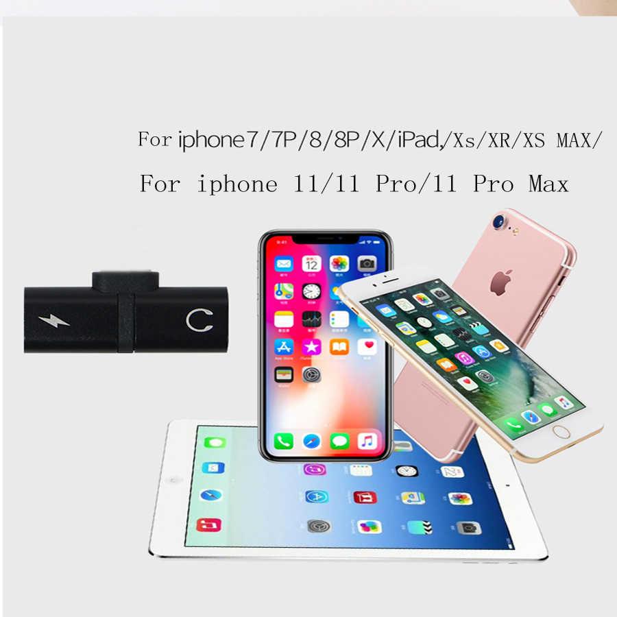 2 ב 1 אוזניות טעינת טלפון מקרה עבור iPhone SE 2020 11 פרו Max Xr X Xs 7 8 בתוספת coque מטען אודיו כיסוי אבזרים