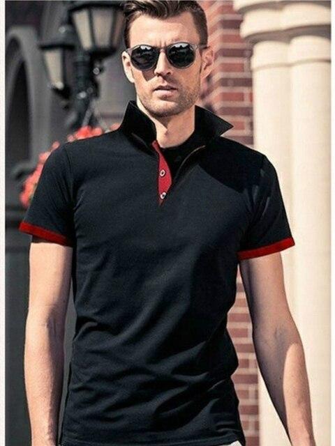 KB Men Polo Men Shirt Short Sleeve Polo Shirt Contrast Color Polo New Clothing Summer Streetwear Casual Fashion Men tops 2