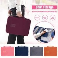 Saco de camisa de viagem multifuncional anti enrugamento roupas tie underwear armazenamento saco slc88|Bolsas de armazenamento dobráveis| |  -