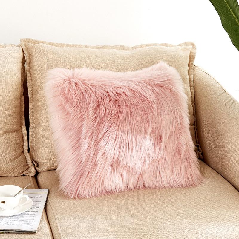 home pillow throw cover sofa cushion case pillowcase long plush fluffy shaggy us home decor pillows indian south asian home decor pillows