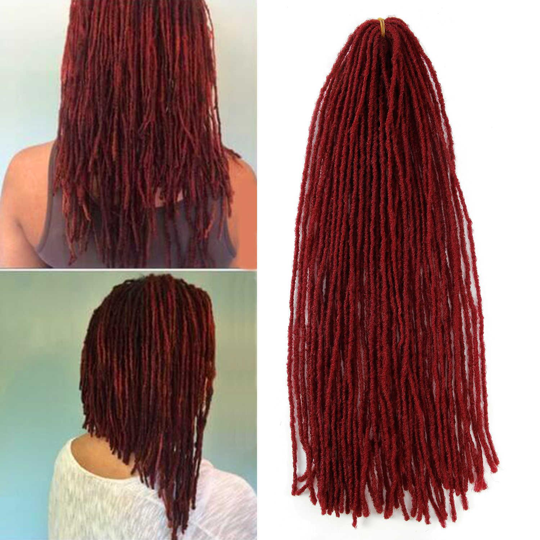 Deadlocks сестра замки афро крючком косички Омбре цвет 18 дюймов коричневый Жук синтетические волосы для женщин искусственные локоны в стиле Crochet волос
