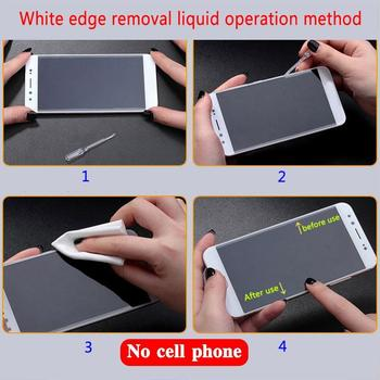 1Pc Mobile Phone Tempered Film Remove White Edge Repair Glass Tempered Filler Edge Film Remove Liquid White Liquid C9H5 image