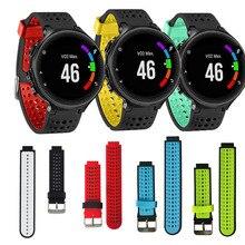 Pulseira de silicone para garmin forerunner, modelo de pulseira para relógio inteligente, 235 630 230, 735