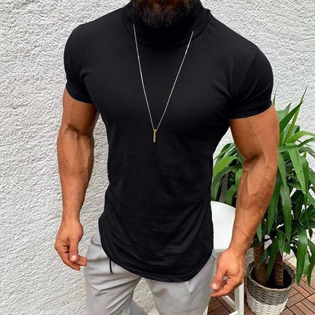 New Mens Longline T Shirt Plain Basic Casual Designer Style Fit Cotton Tee Top