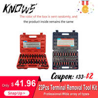 23pcs Professional Connector Release Electrical Terminal Removal Tool Kit Set ZX001 Universal Auto Repair Tools Car Styling