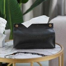 Ins скандинавский кожаный контейнер для бумажных платков полотенце держатель для салфеток бумажный Диспенсер держатель для салфеток чехол для украшения для офиса дома