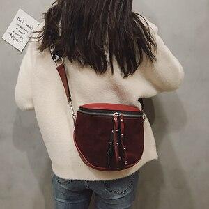 Image 5 - women crossbody bags fashion female 2020 autumn and winter new shoulder bag port wind retro matte saddle  tide