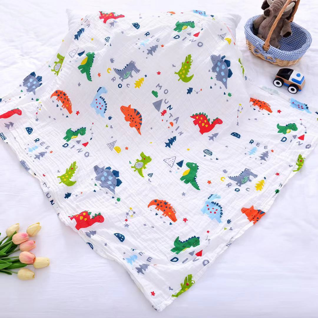120cm*110cm Swaddle Blanket Diaper Baby Blanket Bamboo Gauze Muslin Blanket 120 Baby Blankets Newborn Blanket Swaddle Cotton