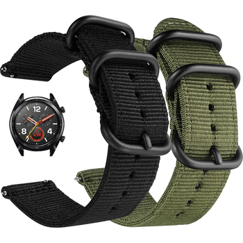 Canvas Nylon band for Huawei Watch GT 2e GT2 42 46mm Honor Magic 2 s1 fit b5 2 pro Watch Wrist Strap Bracelet For TicWatch Pro leather bracelet watchband wrist band for honor magic for huawei watch gt 2e gt2 46mm bracelet strap for huami amazfit gtr 47 mm