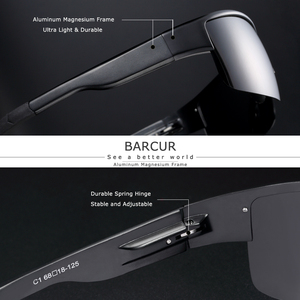 Image 2 - Óculos de sol polarizados para homem óculos de sol de magnésio de alumínio