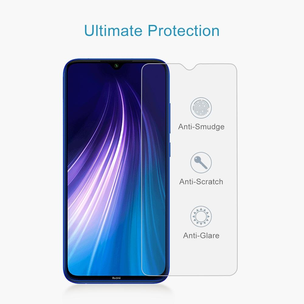 LGYD for Xiaomi Redmi Note 8 50 PCS 0.26mm 9H 2.5D Tempered Glass Film
