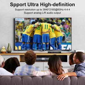 Image 5 - HDMI KVM Switch 4 Port 4K Ultra HD 4x1 HDMI KVM Switcher with 2 Pcs 5ft KVM Cables Supports Mechanical and Multimedia KVM USB2.0