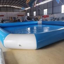 Светильник синий и белый в квадрате 0,9 мм ПВХ брезент надувной бассейн для водных игр