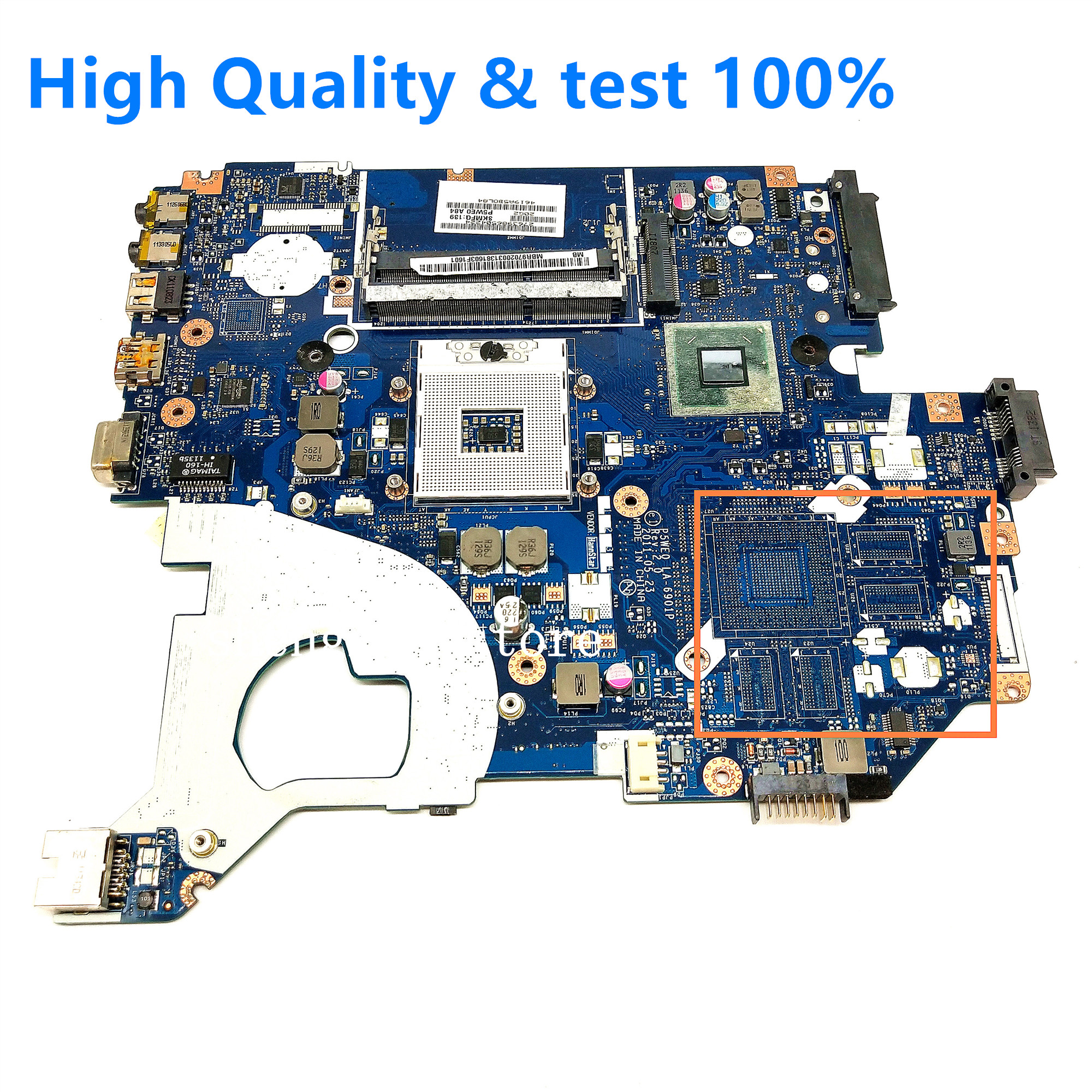 for ACER Aspire 5750 5750G Laptop motherboard 5755 5755G Mainboard P5WE0 LA-6901P image