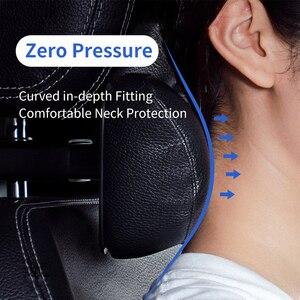 Image 2 - Baseus Universal Car Pillow 3D Memory Foam Warm Car Neck Pillow PU Leather Car Seat Headrest Cushion Head Rest Auto Accessories